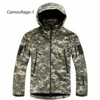 Nylon acu coat - HOT TAD V Men Outdoor Hunting Camping Waterproof Coats Jacket Hoodie Soft Shell Jacket XS XXL ACU