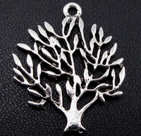 Wholesale 120pcs Tibetan Silver Tree Charms Pendant mm Jewelry DIY