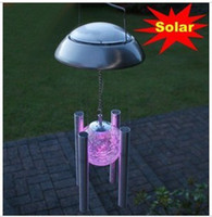 Wholesale Solar wind chimes lights garden lights solar hanging lights decorative lights family homes chang