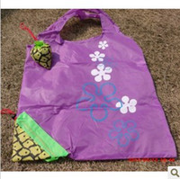 Wholesale 190T pineapple reusable shopping bags fruit shopping bag folding shopping bags factory direct to