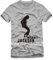Wholesale high quality Michael Jackson tshirt Man In The Mirror men t shirt100 cotton color