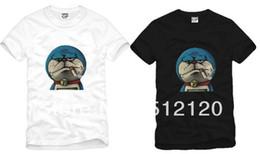 Free shipping high quality new arrival doraemon smoking print t-shirt Doraemon t-shirts funny tshirts women tee man tshirt 100% cotton