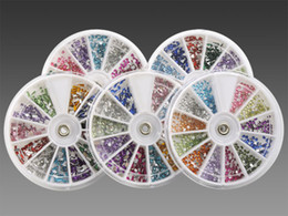Wholesale 5 X Glitter Rhinestone Wheel For Nail Art