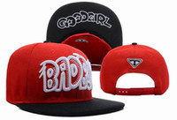 Wholesale New snapback hats snap back caps Bad Boy Good Girl Snapback Red
