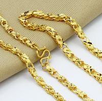 Wholesale jewelry K gold plated unisex fashion flower chains necklace bracelet cm cm