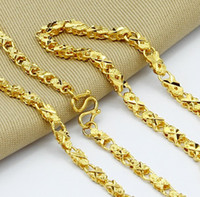 Wholesale jewelry K gold plated unisex fashion flower chains necklace bracelet cm cm
