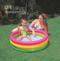Wholesale 1pc intex CM Hot sale summer inflatable baby swimming pool with pool pump for kids D