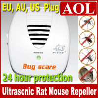 Wholesale EU AU US Smart Bug Scare Ultrasonic Electrical Mouse Rat Pest Repeller Gadgets Hour Protection