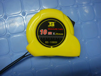 Wholesale m length mm width tape measure yellow metal case with a clip