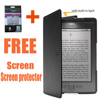 Wholesale Amazon Kindle Lighted Leather Cover case for amazon kindle touch pouch for amazon kindle kindle