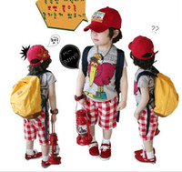 turkey - boy lovely Turkey T shirt suit lattice leisure pants suit boy Turkey T shirt grid pants suit