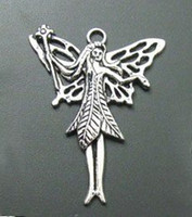 Wholesale 15 Tibetan Silver Fairy Charms Pendants mmx51 mm
