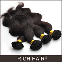Wholesale Mix Length Brazilian Virgin Hair Wefts Body Wave Natural Color Dyeable