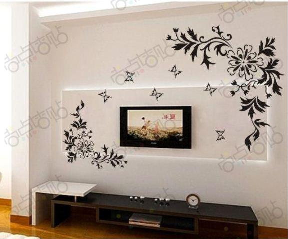 Decoration Flowers Drawings Drawing Room Decor Wall