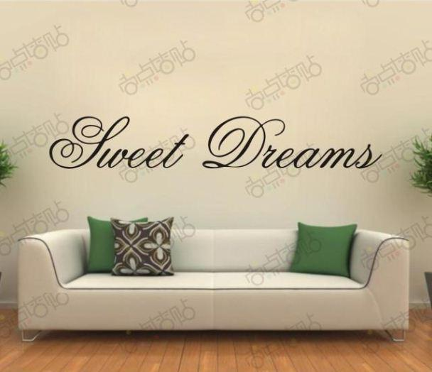 Sweet dreams removable vinyl wall art words lettering for Decoration word