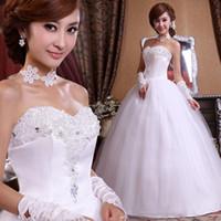Wholesale Wedding dress rhinestone flower bridal dress High quality lace Sexy princess dress