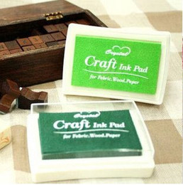Wholesale 14 Color Crystal Craft Ink Pad Colorful Cartoon Ink Pad Ink stamp pad Good for DIY funny Work
