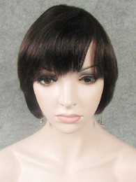 Wholesale 100 human hair b machine made wigs