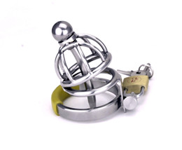 Wholesale Stainless steel Bondage Male chastity devices Shortest Cage Urethral Tube New A099