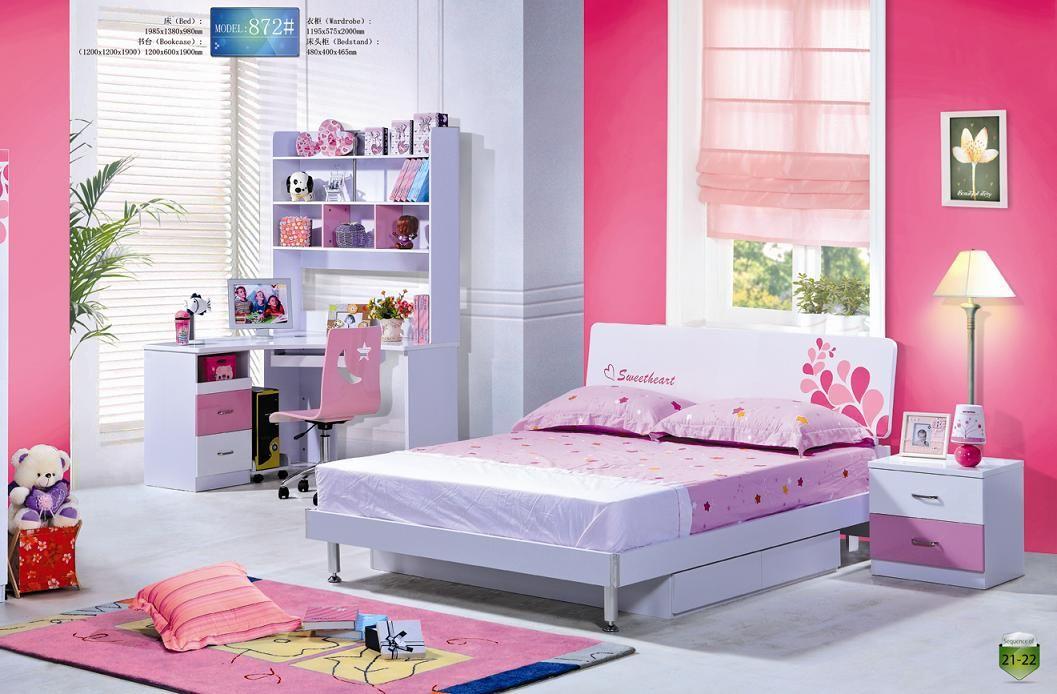 Kids Bedroom Sets. Mdf Pink Lovely Children Bedroom Furniture Set ...