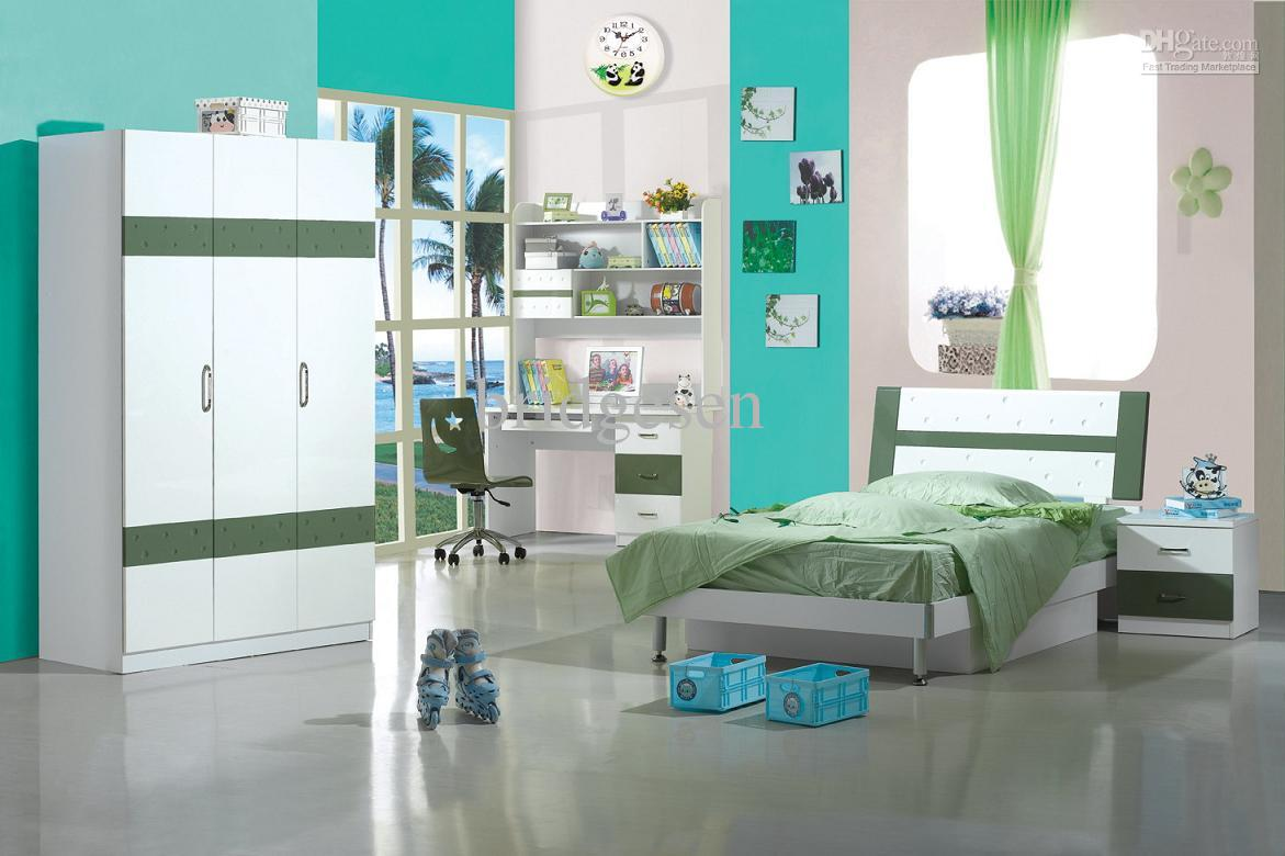 2017 full size mdf children kids bedroom furniture set