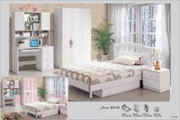 white bedroom furniture - MDF White Princess Children Bedroom Furniture