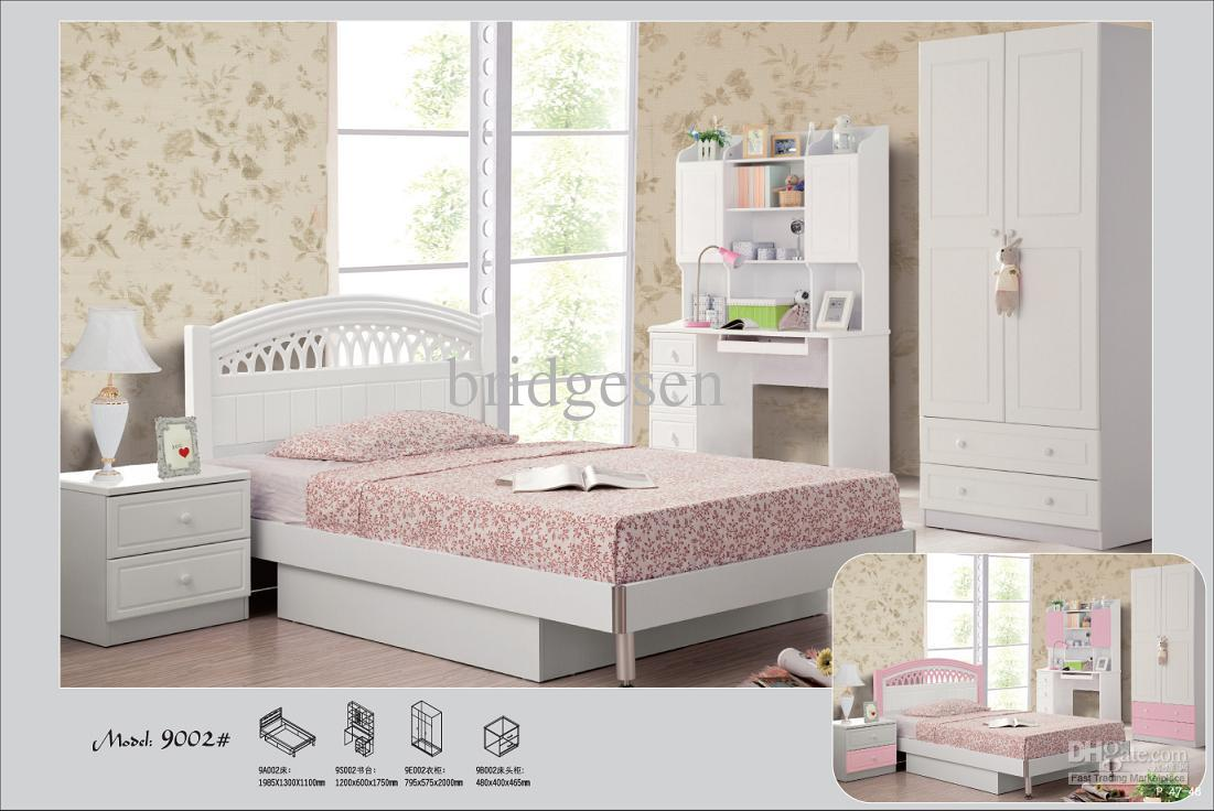 White Pink Princess Children Bedroom Furniture Children Wardrobe Kid Bedroom Funiture Kids