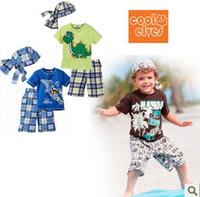 Christmas Boy 2-6Y 2013 New Baby Boys Beach 3pcs Summer Sets Children Outfits Cute boys clothes 5pcs lot