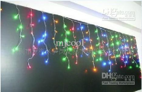 2017 Led Fringe Light 220v 320 Led Multi Color Curtain