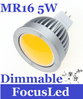 Wholesale New Arrival COB Dimmable Led Bulbs MR16 W V Led Spotlight Lamp Warm White K Led Downlights
