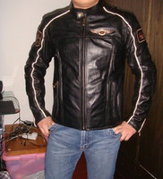Wholesale wholesale100 Men s th Anniversary genuine Leather Jacket VM motorcycle jacket S XXL