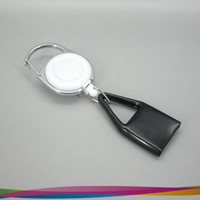 Wholesale White Mini Premium Clip Lighter Leash Retractable Lighter Holder