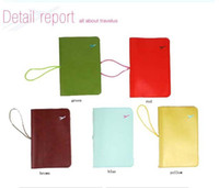LEATHER PASSPORT COVER HOLDER WALLET CASE TRAVEL 8 COLORS NE...