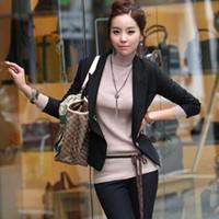 Wholesale Petite Ladies Black Work Suit Blazer Long Sleeve Slim Fit Short Jacket Outer Women s Autumn Winter Cardigan Coat S M L XL XXL LJ037