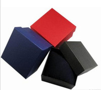 Paper watch boxes wholesale - 20PCS watches box paper Watch Box with Pillow colors Paper Gift Boxes Case For Jewelry Box