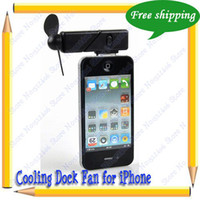 Wholesale Hot Selling FreeShipping Dock Fan For iphone ipod ipodTouch Cooling Dock Fan For iPhone amp iPod Black White