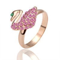 Mexican Women's Gift Free shipping- 18K gold plated fashion lady ring with cz rhinestone jewelry R003