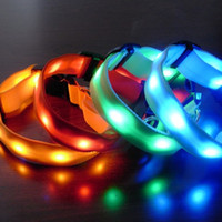 Wholesale Led pet collar Led dog collar flashing dog collar colorful Light pet collar
