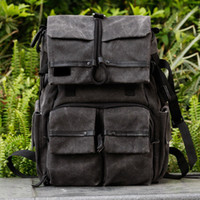 Wholesale Black Canvas DSLR Camera Rucksack Laptop Backpack Bag For Canon Nikon Sony HB120