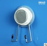 Wholesale hot sale mini double hooks with suction cup bathroom accessories kitchen Dehub Korea