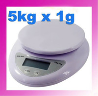 Wholesale 100pcs WEIGHING SCALE Kg Mini Digital Kitchen Scale5000g X g DIGITAL KITCHEN COUTING