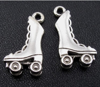 Wholesale 120pcs Silver Tone Roller Skates Pendants mm Jewelry DIY