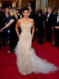 Wholesale Halle Berry Mermaid Prom Dresses Sequins Tulle Celebrity Dresses for rd Oscar Annual Academy Award