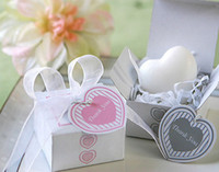 Wholesale 100boxes Wedding favor party gift Bridal baby shower heart shaped scented soap box home garden ws020gh