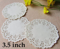 Wholesale Romantic Embossed Round Paper doily Cake Doilies inch