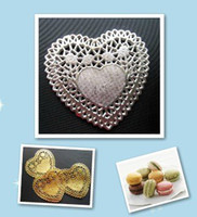 Wholesale Create and Craft cm Heart Silver Paper Lace Doilies Placemat Wedding Decoration