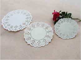 Wholesale 3 quot quot quot White Paper Round Lace Doilies Paper Grease Proof Plate Table Pad