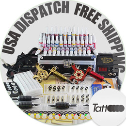Wholesale Professional complete Cheap Tattoo Kits Guns Machines Ink Sets Equipment Needles power supply days