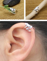 Wholesale fashion jewelry earrings silver Frog ear cuff earring jewelry