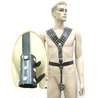 Male leather sex wear - Men s Sex Leather Body Harness Teddy Belt Adult SM Sex Game Wear Product YTJ223